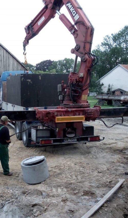 szamba betonowe cena z montażem